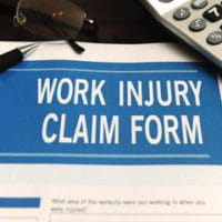 calculating work injury with a claims form